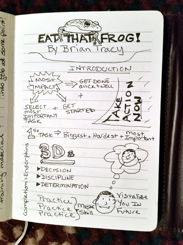 sketchnote for the Introduction of Eat That Frog I